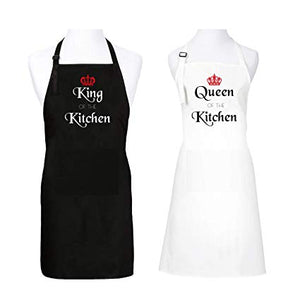 King And Queen of the Kitchen Apron - Couple Set