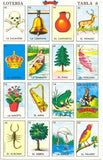 La Loteria Game Spanish Juego Mexicano Bingo 20 Tablets 1 Deck of Playing Cards