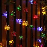 Multi Colored 50 LED Peach Blossoms String Curtain Light for Christmas Wedding Garden Party Home Decoration