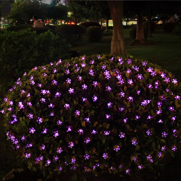 Christmas Purple.Purple 50 Led Peach Blossoms String Curtain Light For Christmas Wedding Garden Party Home Decoration