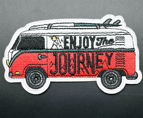 1 PC Enjoy the Journey / Van hippie / Surfer / Embroidered Iron on Patch Applique EJ1130