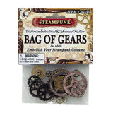 Steampunk Bag of Plastic Gears Standard approx 20 pc  Hat Accessory Costume