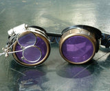 Steampunk Victorian Goggles welding Glasses diesel punk Time Traveler Costume Prop
