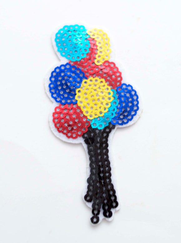 1pc Colorful Sequin Balloons Iron On Patch Applique CS030517