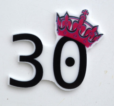 30th Birthday Celebration Tiara Pink Party Toppers Planar Resin Cabochon Flat back Embellishments 3B031617 30 years