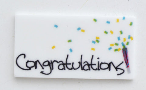 Congratulations Birthday Surprise Party Toppers Planar Resin Cabochon Flat back Embellishments C031517