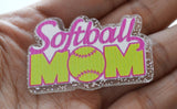 Softball Mom Party Toppers Planar Resin Cabochon Flat back Embellishments SM031617