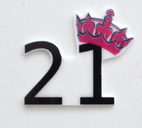 21st Birthday Celebration Tiara Pink Party Toppers Planar Resin Cabochon Flat back Embellishments 2B031617 21