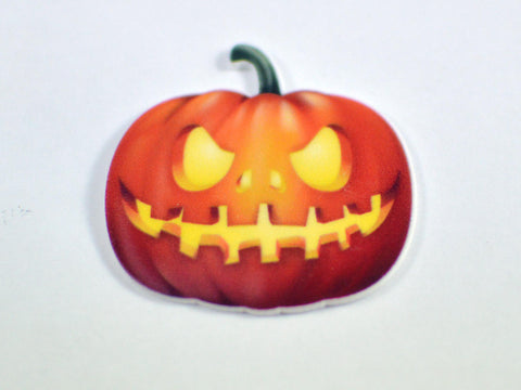 Orange Pumpkin Jack O Lantern Plastic Planar Halloween Skeleton Colors Resin Cabochon Flat back Embellishments Center