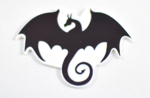 Black Dragon Plastic Planar Halloween Skeleton Colors Resin Cabochon Flat back Embellishments Center