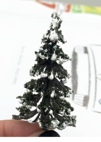 Christmas Tree Snowy  Miniature Tree Garden Plants Terrarium Doll House Ornament Fairy Decoration CT2518