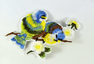 1pc Two Birds Flowers Iron on Patch Applique BY010518