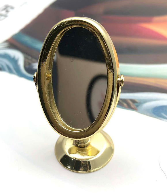 Gold Tone Mirror Miniature Ornament GT3818