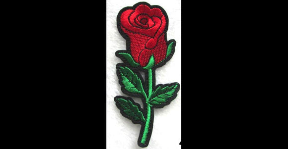 1PC Red Rose Iron On Patch Applique RR32118
