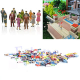 100 pc Miniature People Dollhouse 10mm  Train Accessories Assorted Craft Supplies MP071618