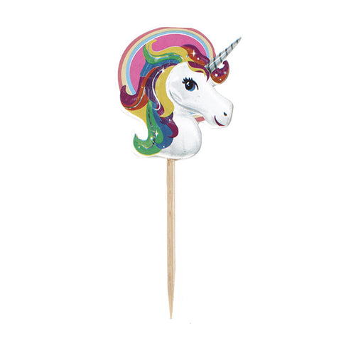10pc Unicorn Rainbow colors Party Supplies Toothpick Cupcake Toppers RU0530