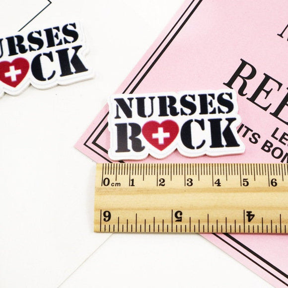 Nurses Rock Medical Planar Resin Flat back Embellishments Centers Decor NR071418