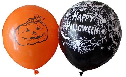"12"" Halloween Latex Balloons Decoration Skulls Mixed Happy Holidays Ghost Orange Black Party HB082418"