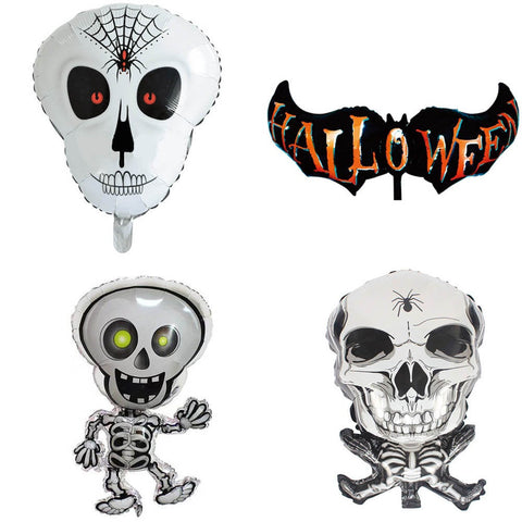 Large Halloween Foil Balloon Party Supplies Decoration Skeleton Skull Bat Celebration HB071718