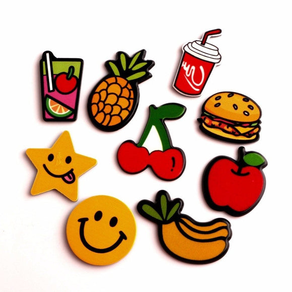 20 PC Fruit Planar Resin Flat back Embellishments Apple Pineapple Strawberry cherry FP092318