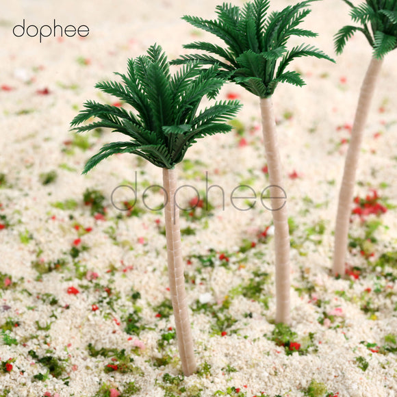 Green Palm Tree Tiny Miniature Garden Plants 10cm Terrarium Doll House Ornament Fairy Decoration PT080918