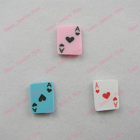 6 PC Playing cards Poker Fimo Polymer Clay Pendant PC100418
