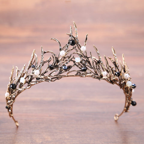 Bronze Crystal Tiara Princess Prom Wedding Bridal Hair Jewelry Accessories Quinceanera Pageant headband Crown  BC11518