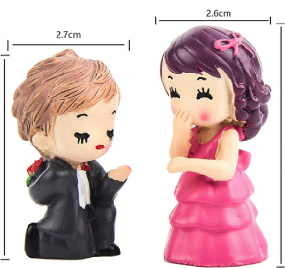2 Pc Couple Proposal Miniature Figurines Decoration PC092318
