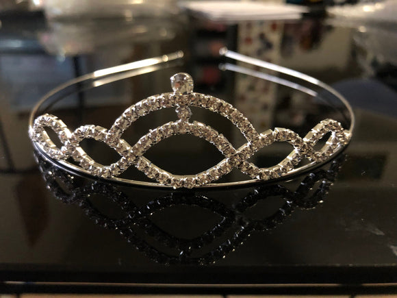 Silver Headbands Hair Jewelry Crystal Tiara  ET0203