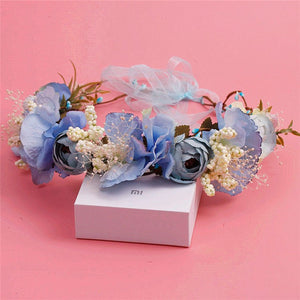 Light blue Branch Flower Princess Prom Wedding Bridal Hair Jewelry Quinceanera Pageant headband Crown BB0417