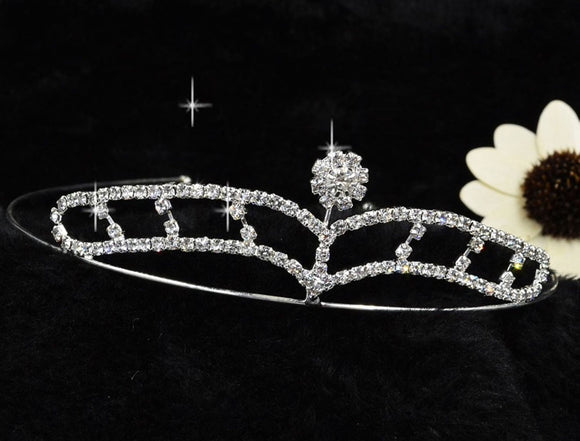 Silver Headbands Hair Crystal Tiara  FT616
