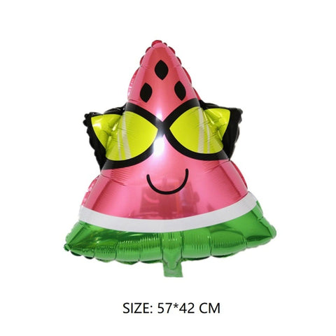 "22"" Large Watermelon Fruit Slice Summer Foil birthday Balloon Party Supplies Decoration Celebration LW715"