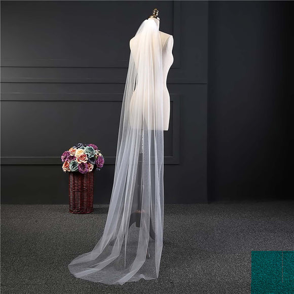 Long Elegant Lace Wedding Veil Bridal with Comb Ivory or White approx 6FT 6LV0921