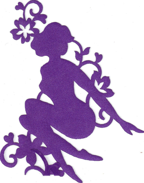 Purple Shiny Sillhouette Commercial Sewing Patch - Iron On Scrapbooking HairBows Parties DIY Projects az420