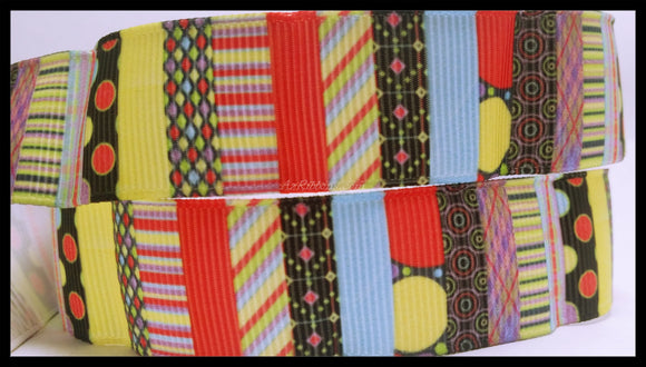 Variety Colorful Patterns Design Grosgrain Ribbon 7/8