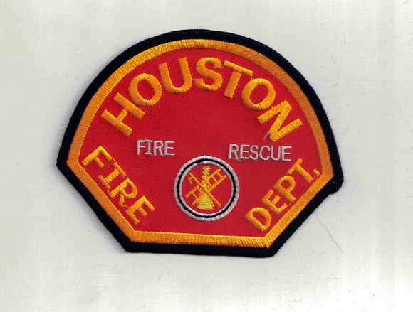 Houston Fire Dept Commercial Sewing Patch Iron On Scrapbooking HairBows Parties DIY AZ5939