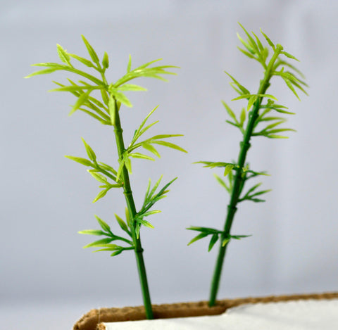 Bamboo Miniature Tree Garden Plants Terrarium Doll House Ornament Fairy Decoration  AZ420163