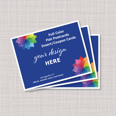 Custom Printed Full Color 5x7 Postcards