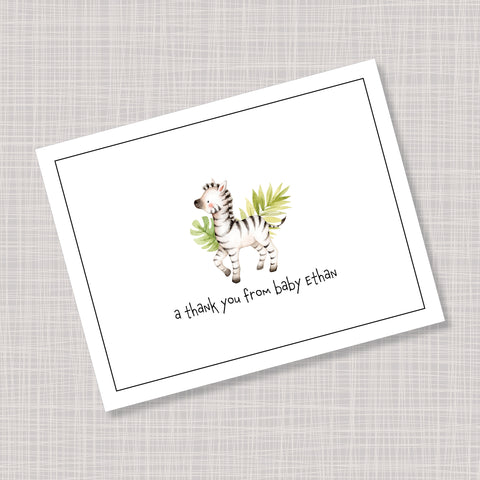 Baby Zebra Note Cards