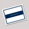Men's Masculine Navy Blue Name Note Cards