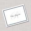 Navy Blue & Gray Monogram Name Note Cards