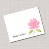 Soft Pink Flower Name Note Cards