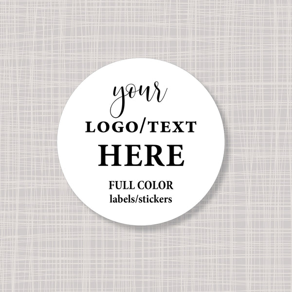 "Round Large 3.33"" Labels Stickers"