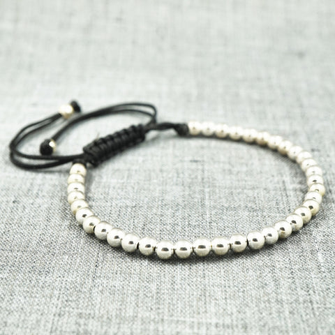 GentStone - Beads Macrame - White Gold