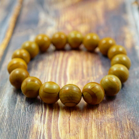 Wood Grain Jasper - 12mm GentStone Men's Bracelet