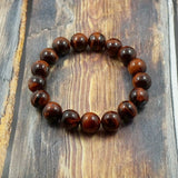 Red Tiger's Eye - 12mm GentStone Handmade Men's Bracelet Women's Bracelet