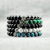 Blue Malachite & Matte Onyx - 8mm