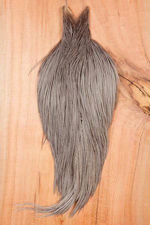 Hebert Miner Dry Fly Hackle Bronze Cape - Medium Gray Dun