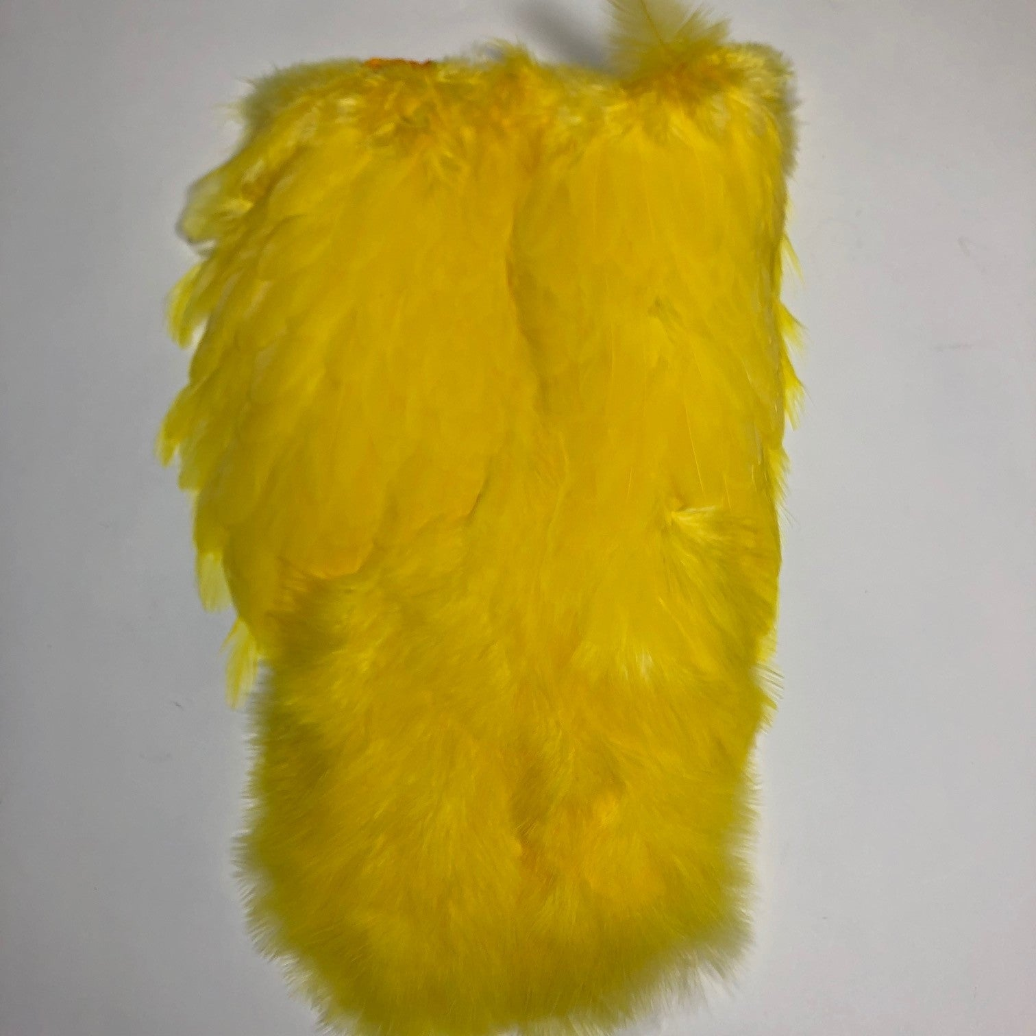 Whiting softhackle /& Chickabou White Dyed Yellow