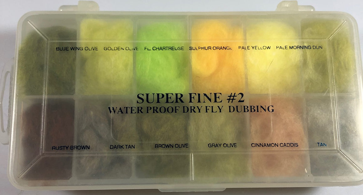 Super Fine #2 Waterproof Dry Fly Dubbing